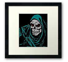 Scary Skeleton with Red Eyes Framed Print