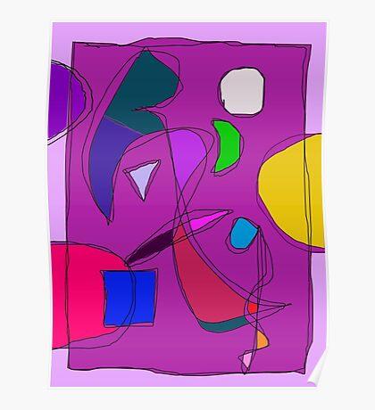 Purple Night Sky Poster
