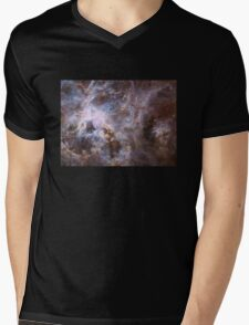 Deep Space Nebula Galaxy Mens V-Neck T-Shirt