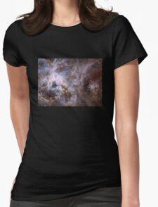 Deep Space Nebula Galaxy Womens Fitted T-Shirt