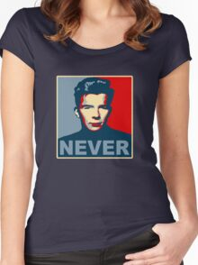 Never Gonna Give Up Hope Women's Fitted Scoop T-Shirt
