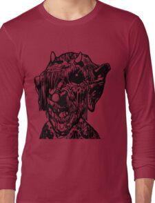Scary Monster Deformed Face Long Sleeve T-Shirt
