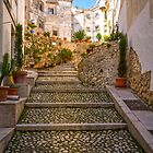 Cobbled steps in Bocairent by Ralph Goldsmith
