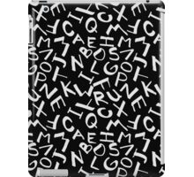 LETTER PATTERN iPad Case/Skin