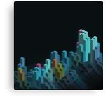 Isometric 3D pattern Canvas Print