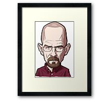 Walter White Breaking Bad Caricature Framed Print
