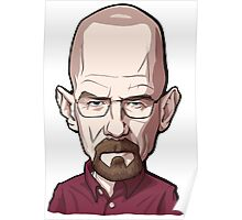 Walter White Breaking Bad Caricature Poster