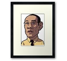 Gustavo Breaking Bad Caricature Framed Print