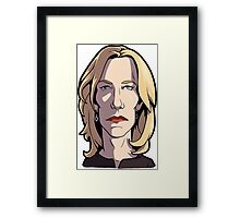Skyler Breaking Bad Caricature Framed Print