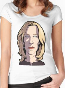 Skyler Breaking Bad Caricature Women's Fitted Scoop T-Shirt
