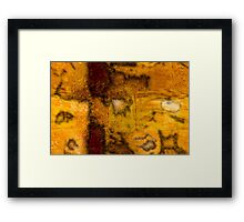 Brown and Orange Grungy Abstract Pattern Framed Print