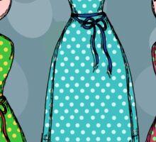 Polka Dot Dresses Sticker