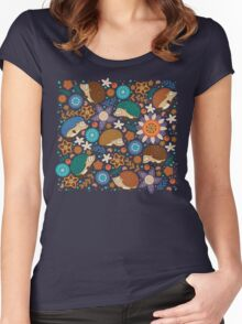 Little hedgehogs Women's Fitted Scoop T-Shirt