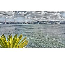 the river in Lisbon Photographic Print