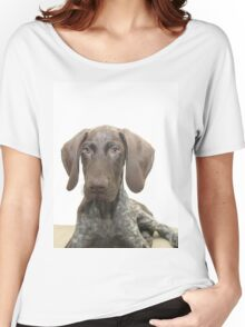 Glossy Grizzly German Shorthaired Pointer Women's Relaxed Fit T-Shirt