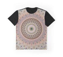 Mandala in brown and gray tones Graphic T-Shirt
