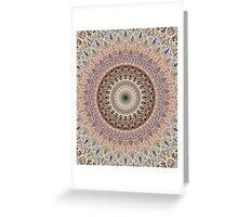 Mandala in brown and gray tones Greeting Card