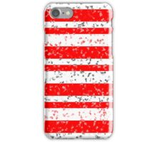 Red White Stripe Patchy Marble Pattern iPhone Case/Skin