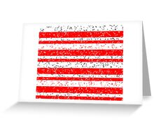 Red White Stripe Patchy Marble Pattern Greeting Card