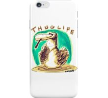 cartoon style cool duck thuglife iPhone Case/Skin