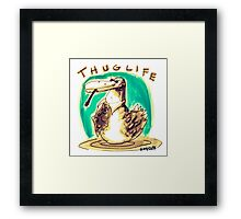 cartoon style cool duck thuglife Framed Print
