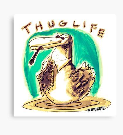 cartoon style cool duck thuglife Canvas Print