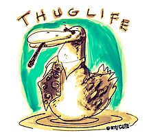 cartoon style cool duck thuglife Photographic Print