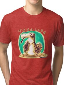 cartoon style cool duck thuglife Tri-blend T-Shirt