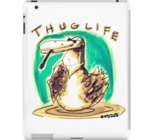 cartoon style cool duck thuglife iPad Case/Skin