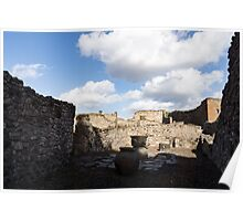 Ancient Pompeii - a Bakery in the Deep Shadows Poster