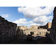 Ancient Pompeii - a Bakery in the Deep Shadows Photographic Print
