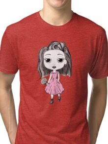 Little Miss in the Forest Tri-blend T-Shirt