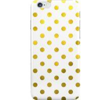 Gold White Polka Dot Pattern Digital Paper iPhone Case/Skin