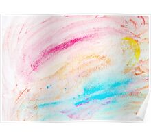 Colorful abstract water color textured background Poster