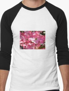 Pink Dogwood Men's Baseball ¾ T-Shirt