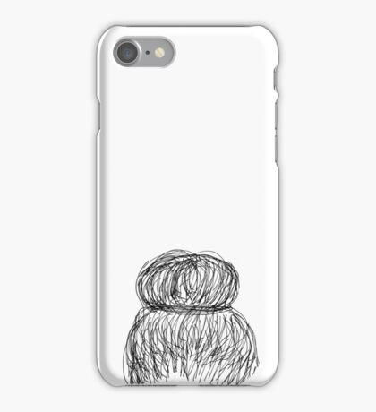 Hair bun design  iPhone Case/Skin