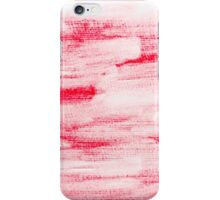 Red abstract water color textured background  iPhone Case/Skin