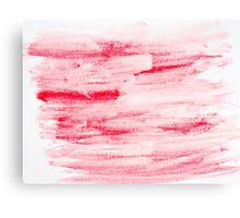 Red abstract water color textured background  Canvas Print