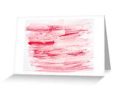 Red abstract water color textured background  Greeting Card