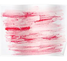 Red abstract water color textured background  Poster