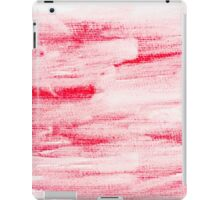 Red abstract water color textured background  iPad Case/Skin