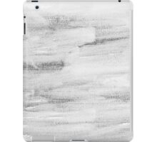 Monochrome abstract water color background  iPad Case/Skin
