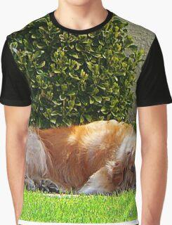 Dog Relaxing Graphic T-Shirt