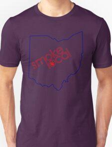 Smoke Local Weed in Columbus OH (Ohio) Unisex T-Shirt