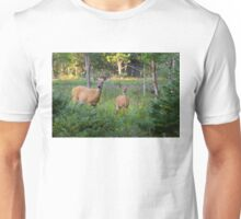 White-tailed deer and fawn Unisex T-Shirt