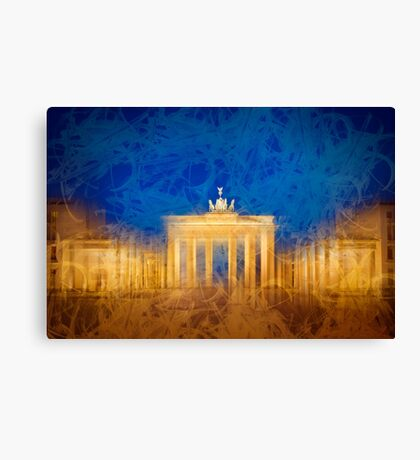 Modern Art BERLIN Brandenburg Gate Canvas Print