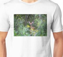 Fawn Hiding - White tailed deer Unisex T-Shirt