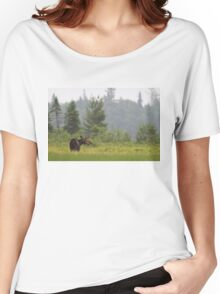 Grassy marsh moose - Algonquin Park, Canada Women's Relaxed Fit T-Shirt