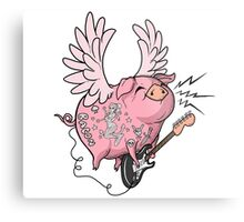 Pigs Rock! Metal Print
