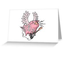 Pigs Rock! Greeting Card